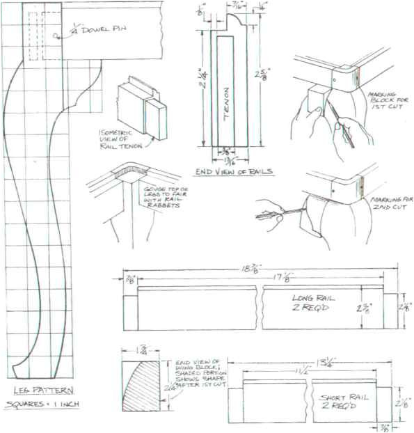 Queen Anne Leg Template Fine Woodworking Varnish Queen Anne Table Leg Plans How