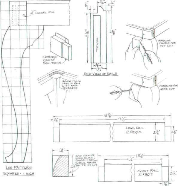queen anne table leg plans