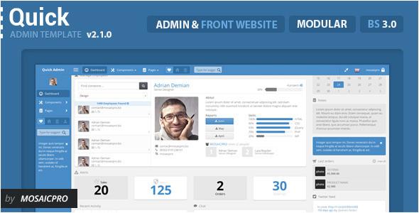 responsive website admin templates