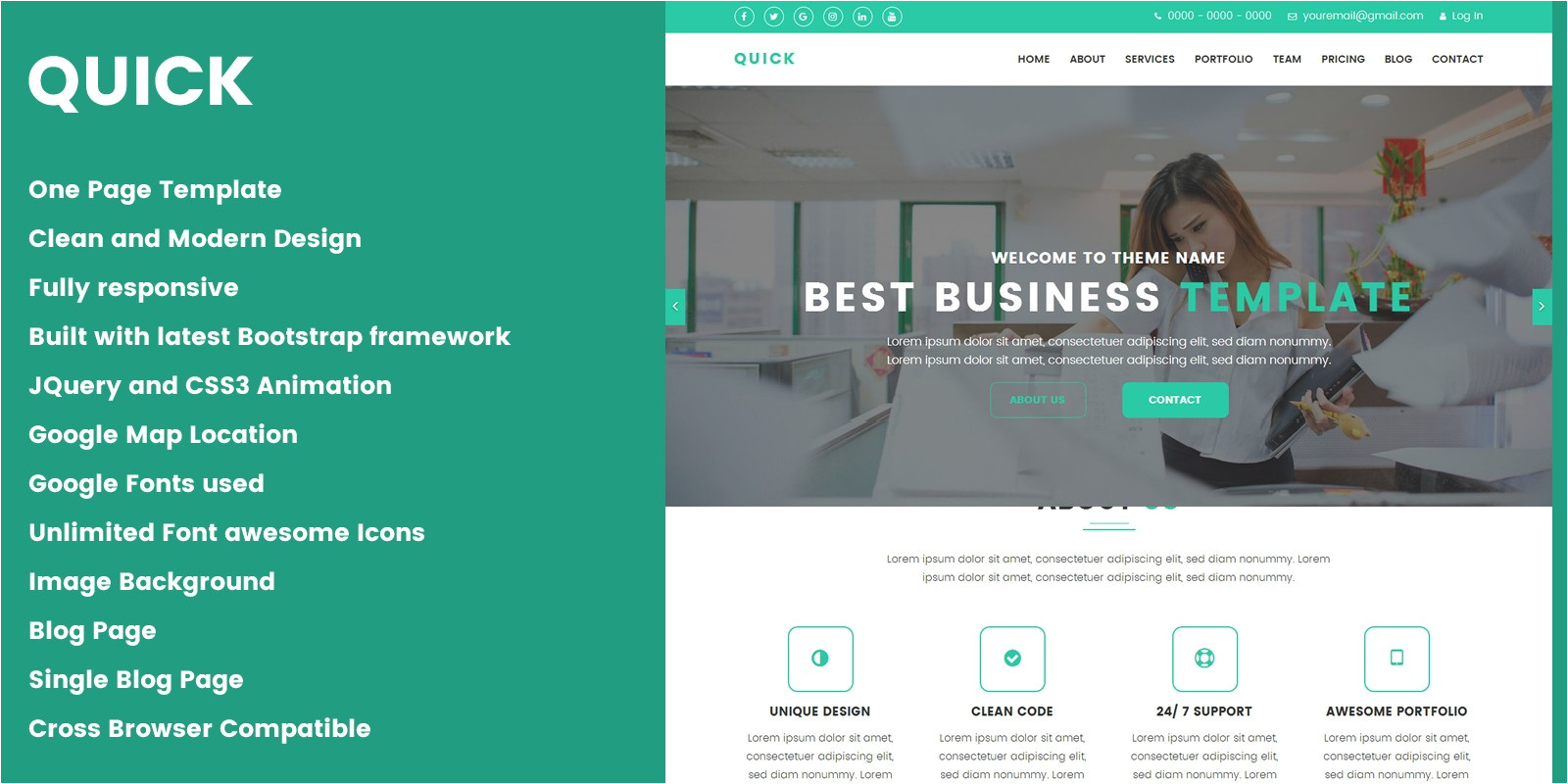 Quick HTML Template Quick Creative Design Agency HTML Template Codester