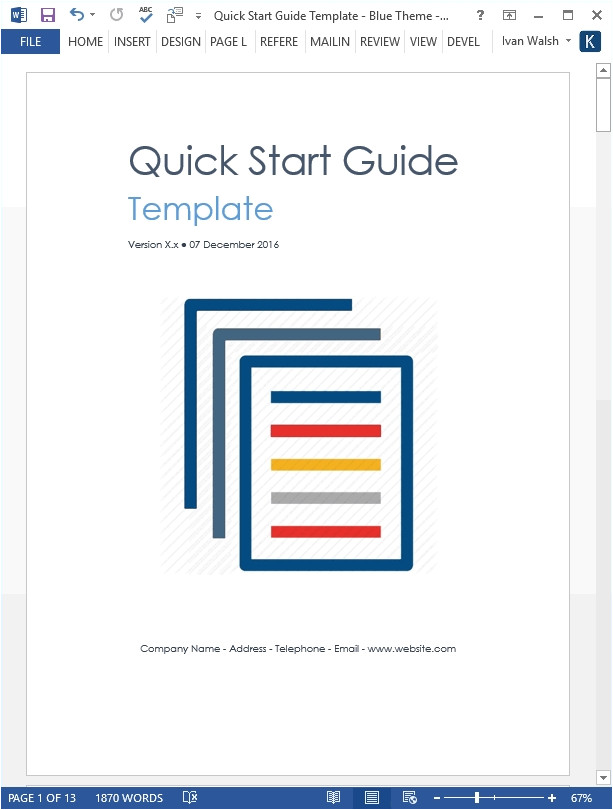 quick start guide template