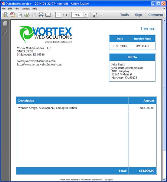 Quickbook Invoice Templates Invoice Template Quickbooks Invoice Example