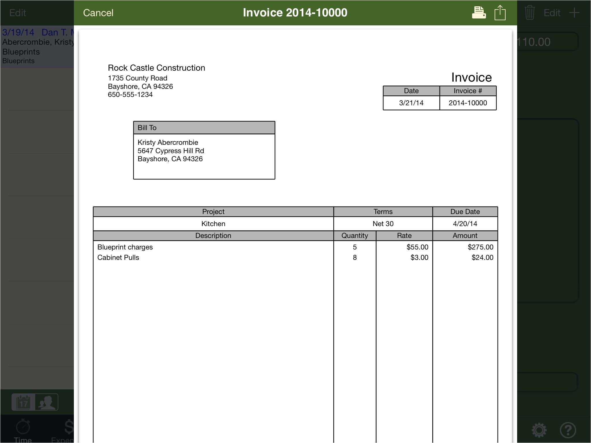 quickbooks invoice template excel 1325