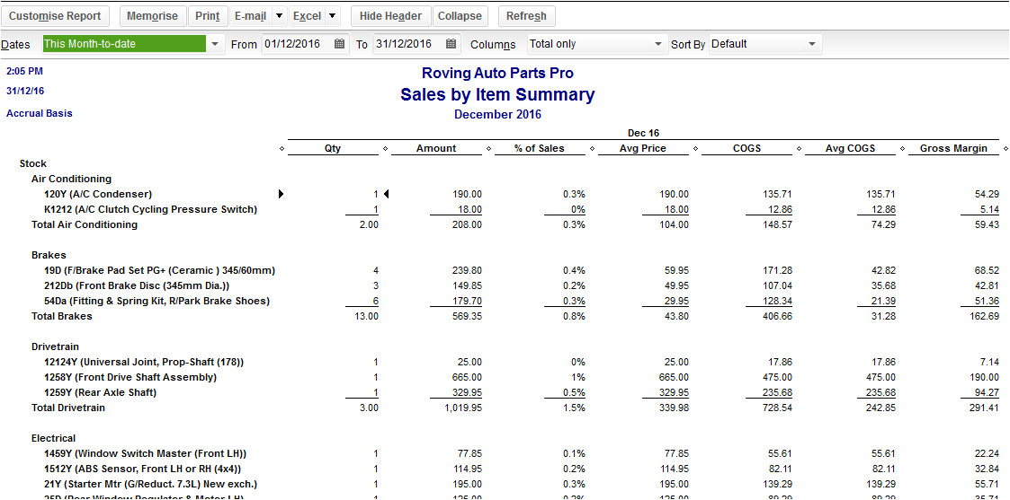 how to view sales report template in