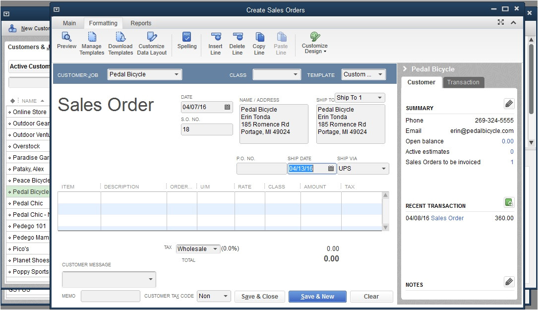 how to use quickbooks to keep track of pre orders and backorders