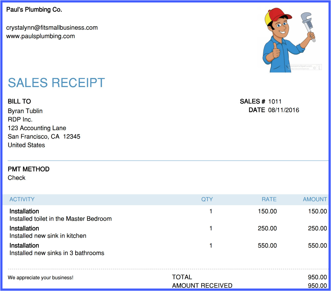 how to create sales receipts in quickbooks online
