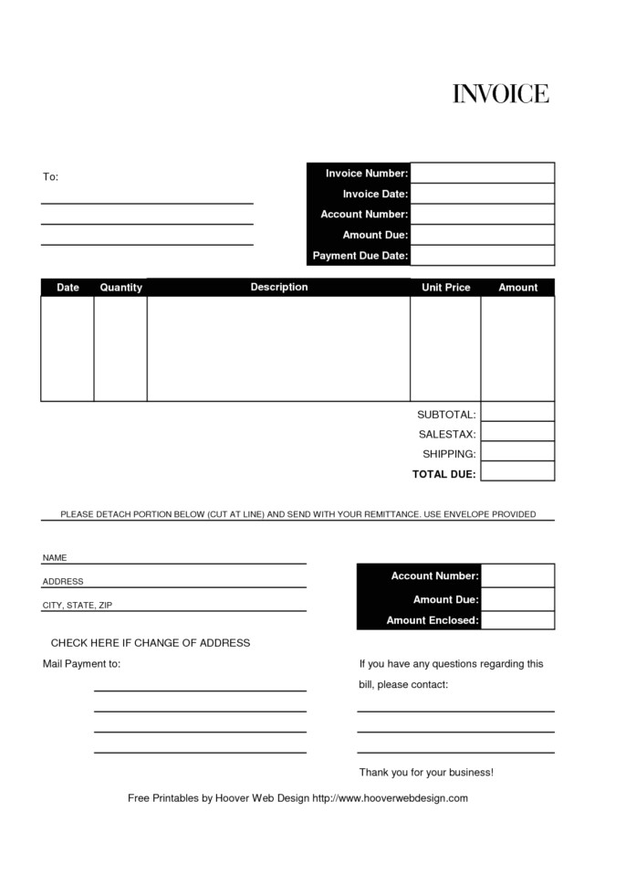 invoice template quickbooks
