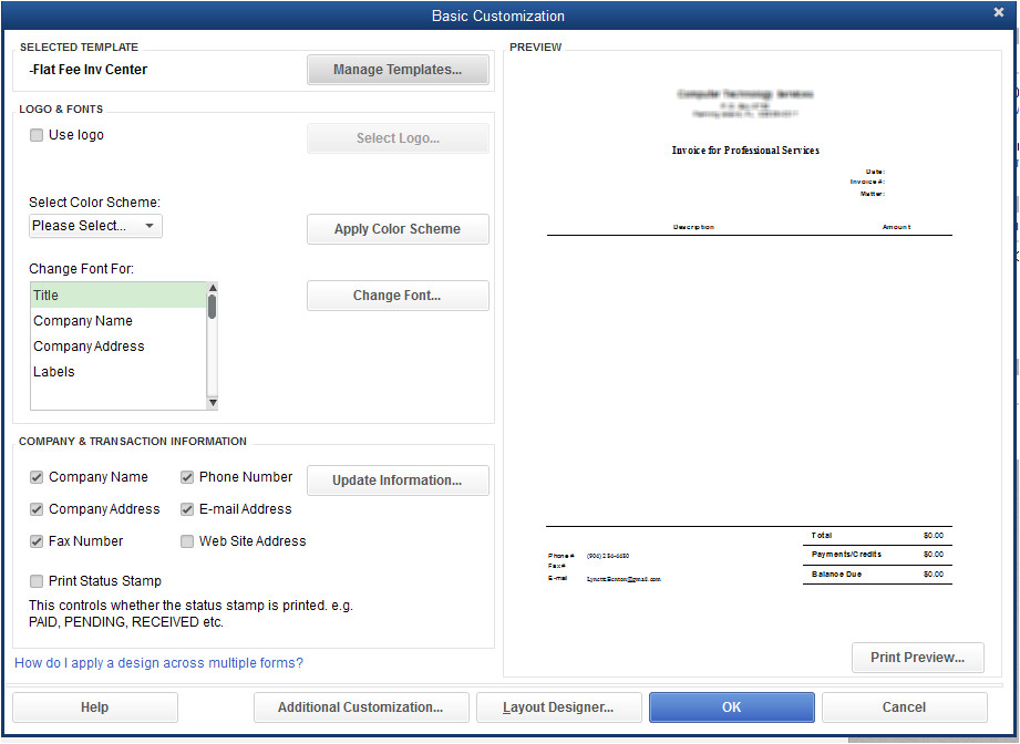 quickbooks templates for lawyers