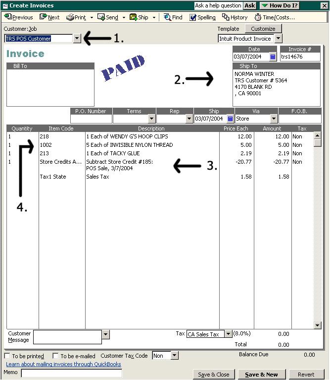 quickbooks invoice template 1674