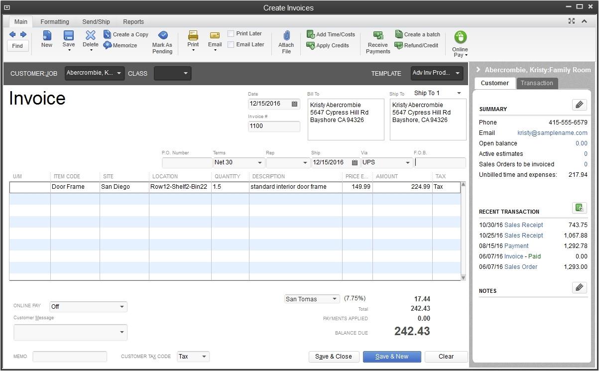 scanning invoices into quickbooks