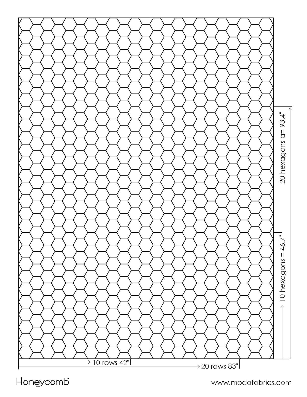 hexagon quilt coloring page