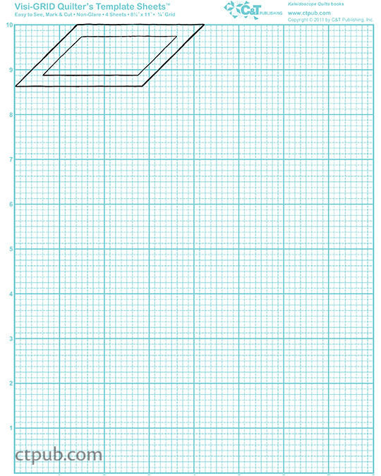 visi grid quilters template sheets