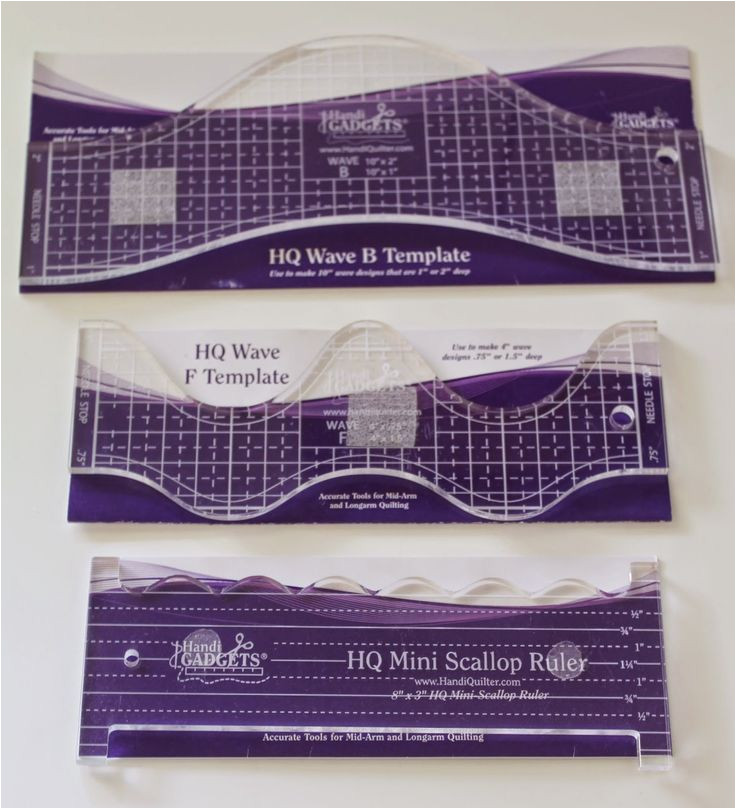 longarm rulers and templates