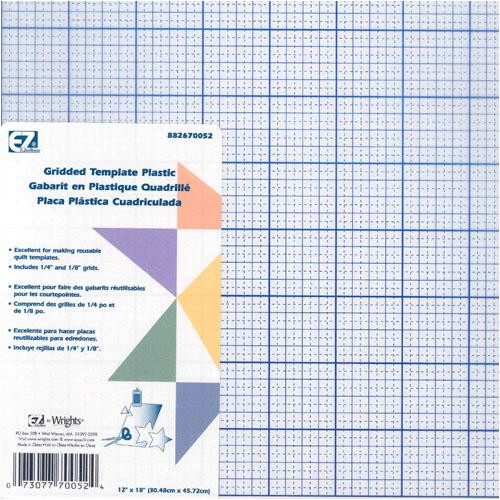 quilters gridded plastic template