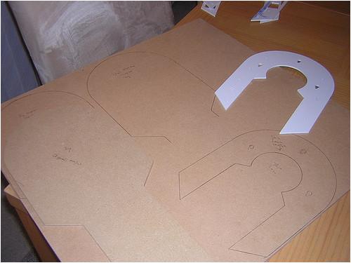 marked mdf for horseshoe templates