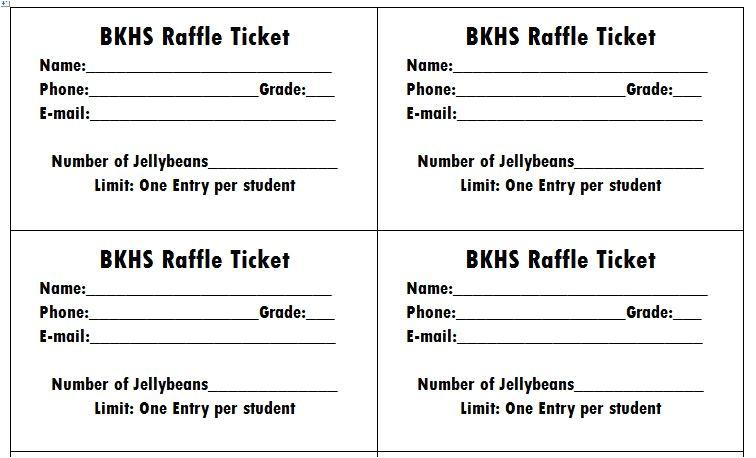 raffle movie ticket templates
