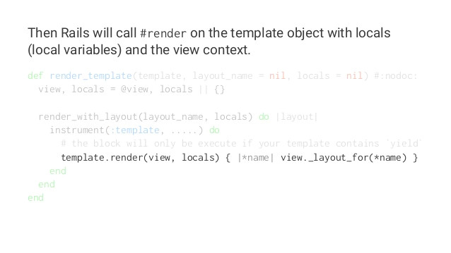 template rendering in rails