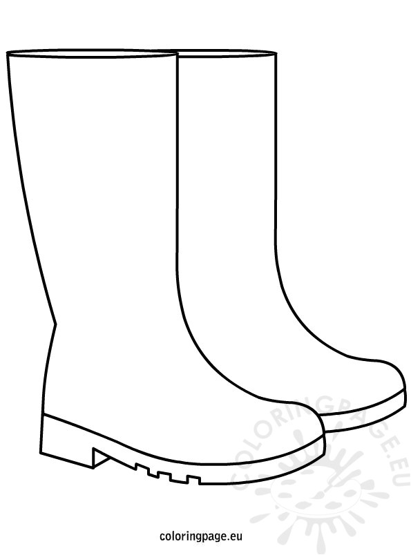Rain Boots Template Autumn Rain Boots Coloring Page