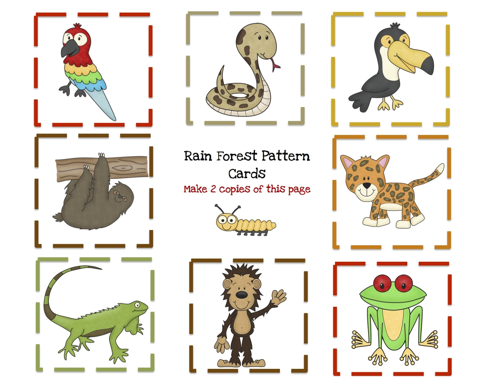 rain forest animal printable