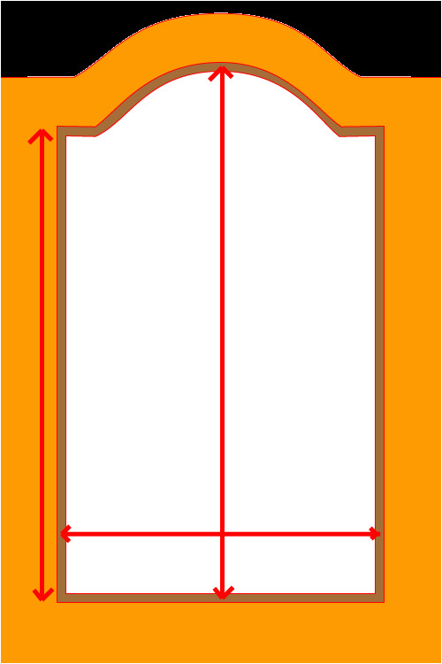 Raised Panel Door Templates Cathedral Cabinet Door Template Cabinet Doors