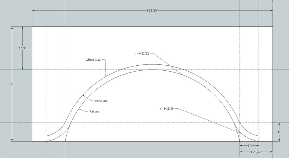 Raised Panel Door Templates Making Cathedral Arch Templates for Cabinet Doors Using