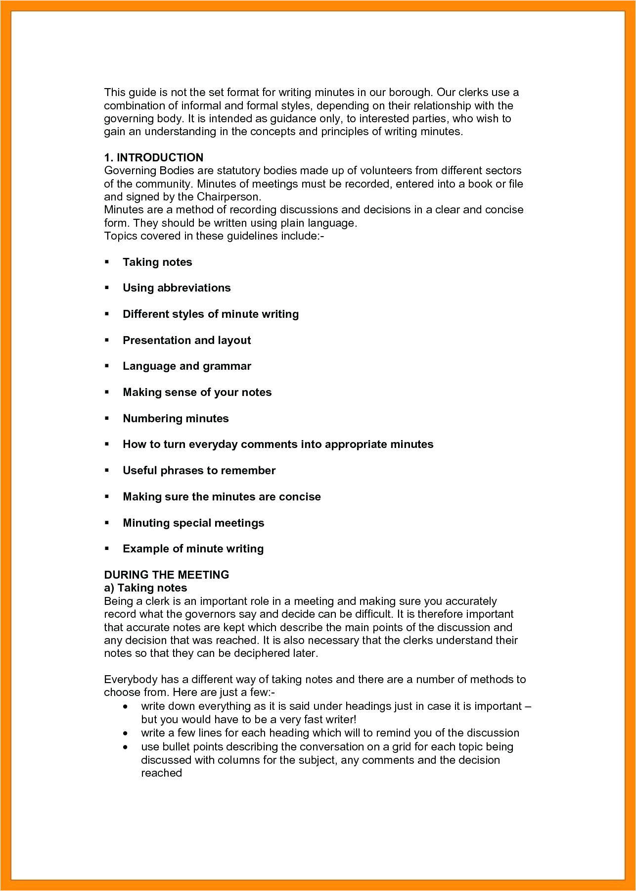 Rapporteur Report Template Template Meeting Note Taking Template