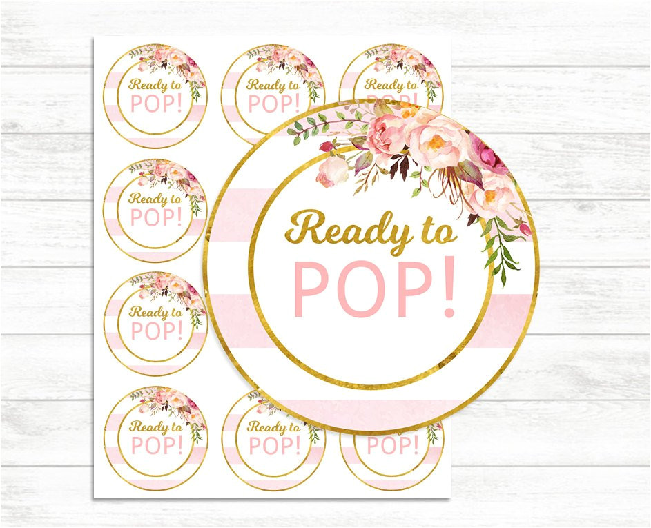 Ready to Pop Stickers Template Printable Ready to Pop Stickers Pink and Gold Ready to Pop