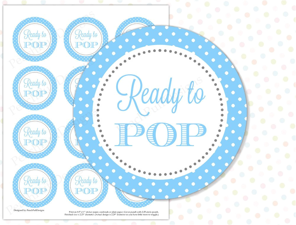 Ready to Pop Stickers Template Ready to Pop Sticker Blue Instant Download Ready to Pop