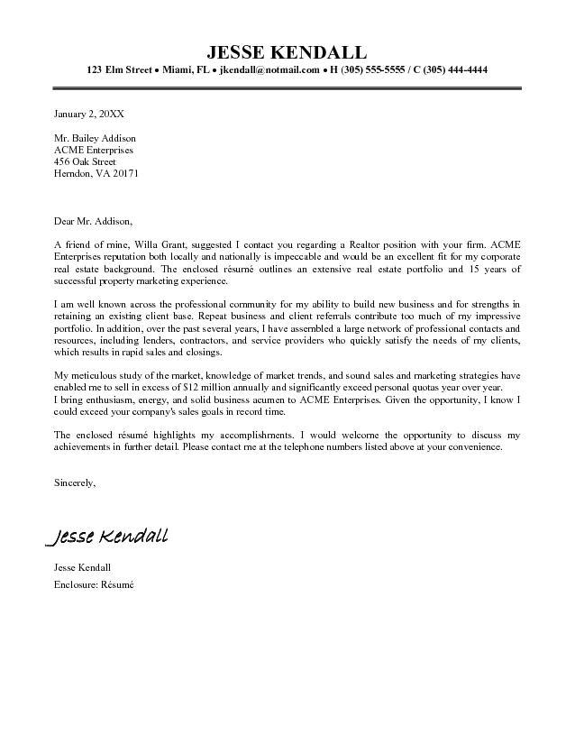 sample real estate offer letter