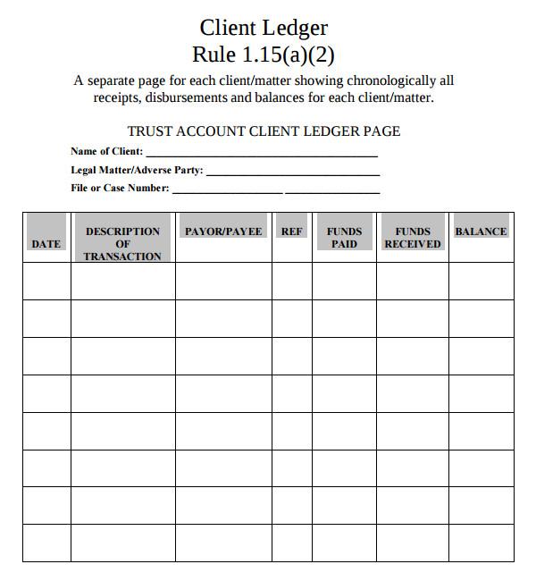 account ledger template