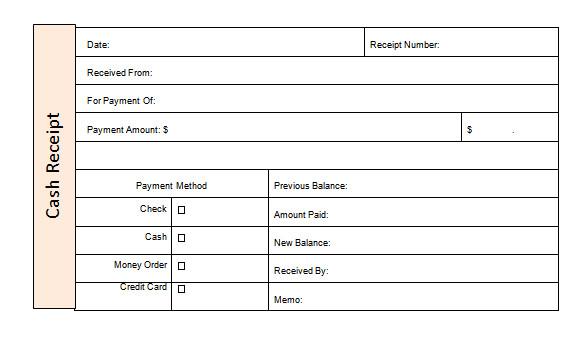money receipt template