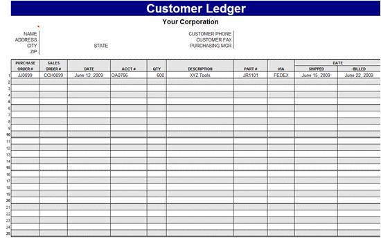 Receipt Ledger Template General Ledger Template Cyberuse