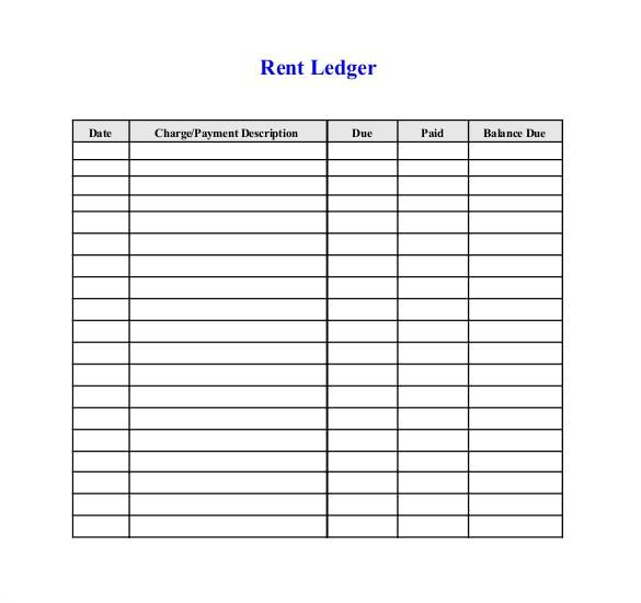 Receipt Ledger Template Rental Ledger Template Rental Receipt Template Word Free