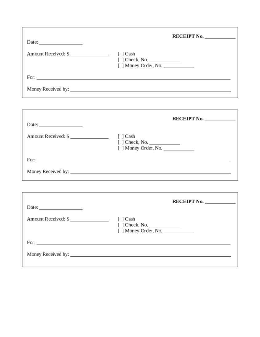 free receipt template blank word pdf