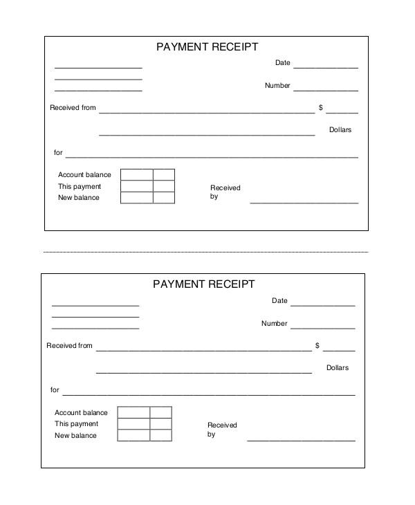 free printable receipt
