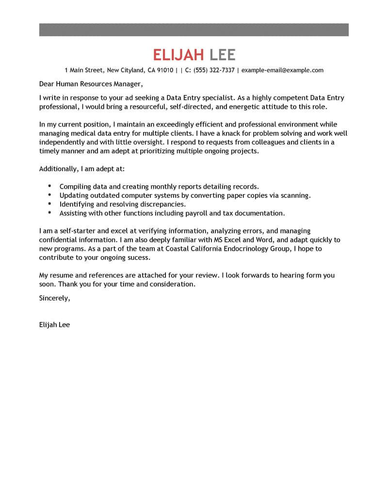 recruitment consultant cover letter no experience