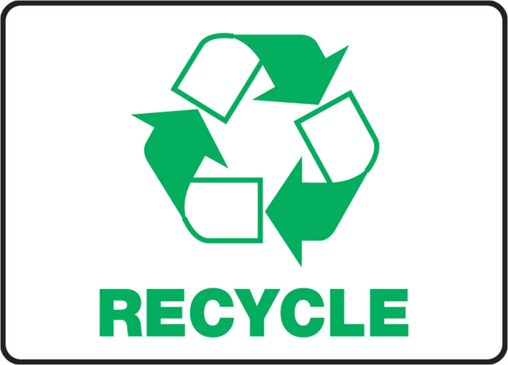 Recycle Sign Template Graphic Recycle Safety Sign Mrcy508