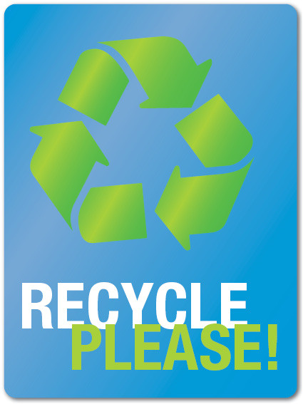 printable recycle sign recycling
