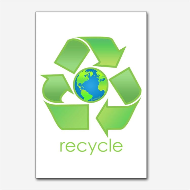 recycle symbol postcards