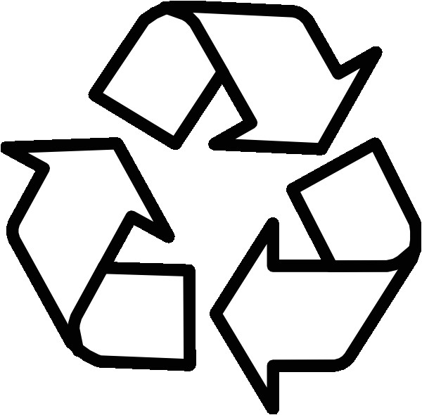 Recycle Sign Template Recycling Symbol Outline Clip Art at Clker Com Vector