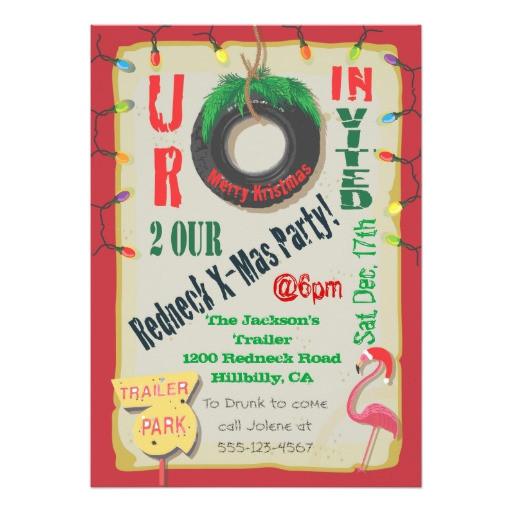 redneck christmas party invitations 161225906281495218