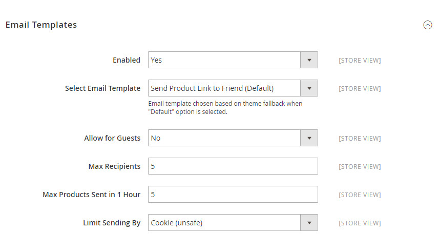 how setup refer email friend in magento 2