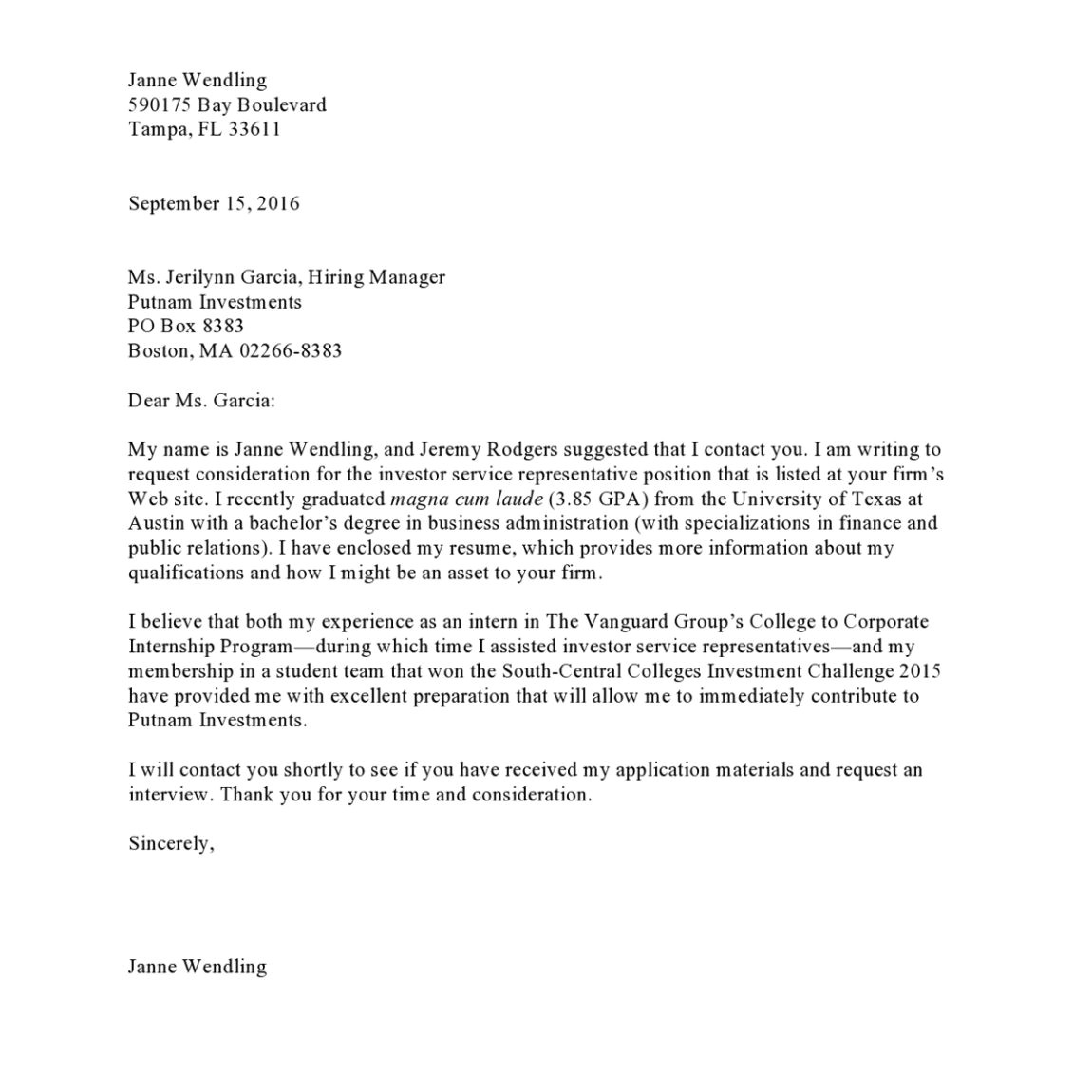 Referred by A Friend Cover Letter Cover Letter for Resume Referral tomyumtumweb Com