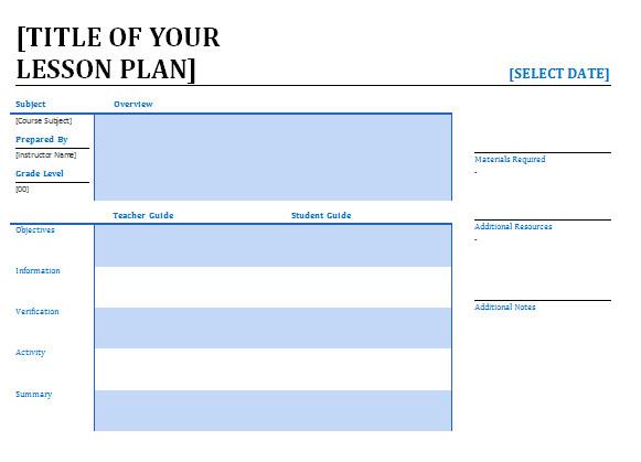 Regis Lesson Plan Template Lesson Plans for Teachers Lessonplans4teachers
