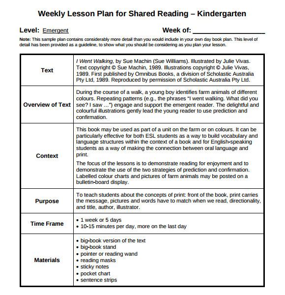 Regis Lesson Plan Template Magnificent Lesson Plan Template Kindergarten Photos