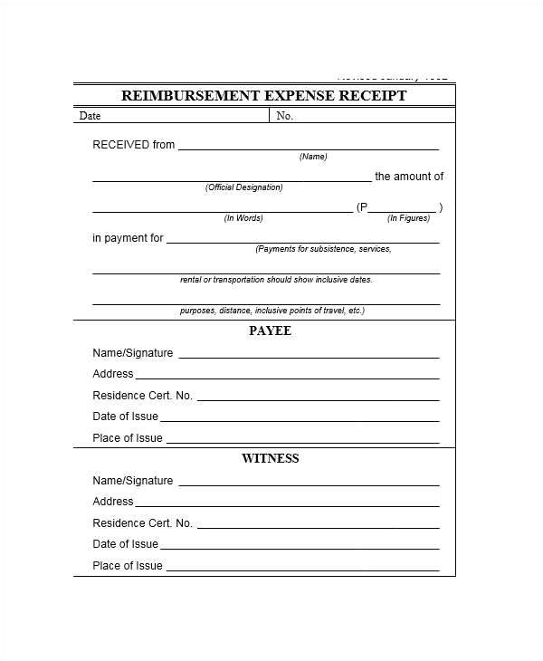 expense receipt template