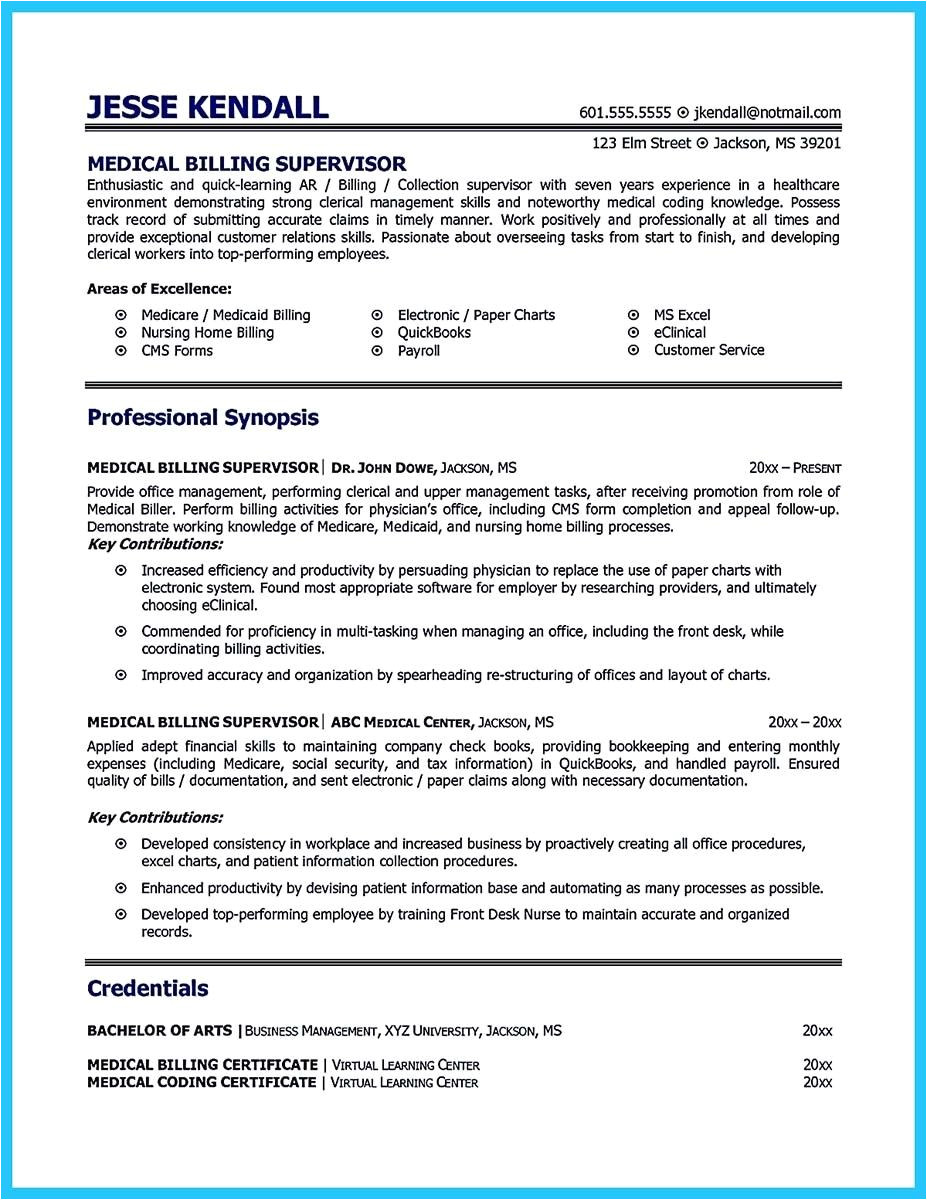 Reimbursement Specialist Resume Sample Cool Exciting Billing Specialist Resume that Brings the
