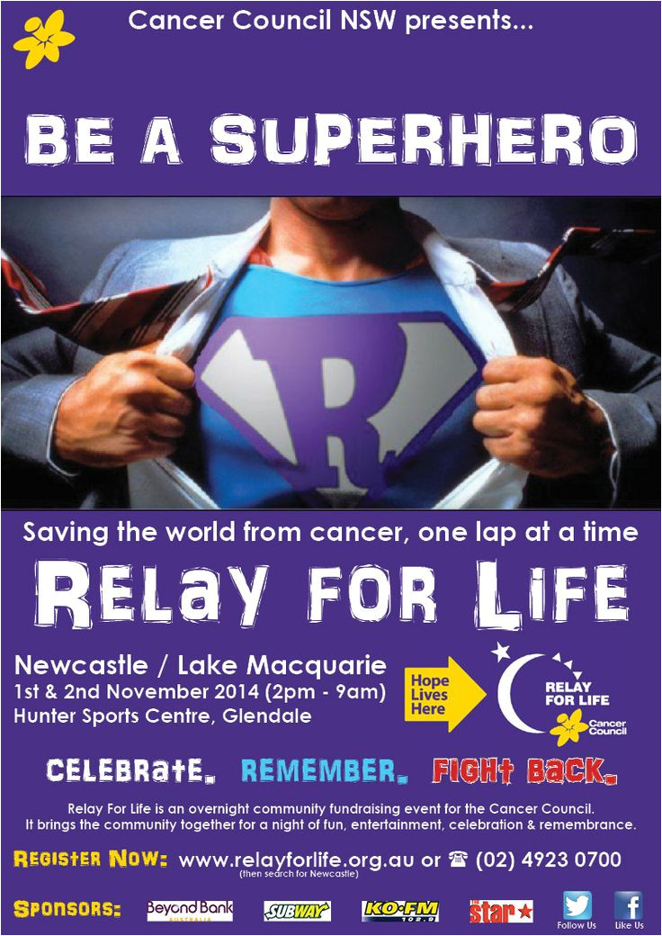 relay for life flyer template