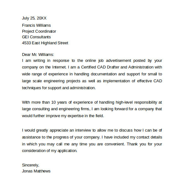 sample resume cover letter example