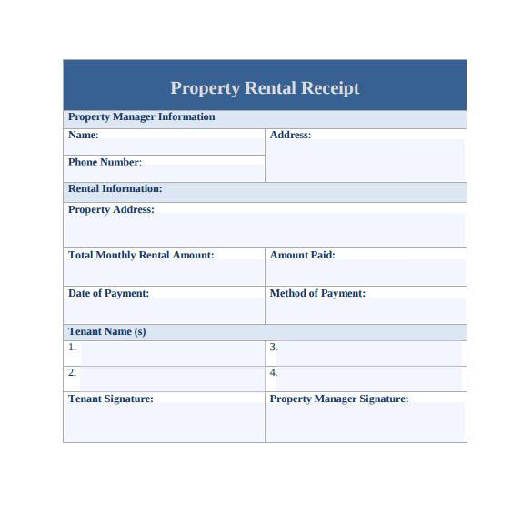 Rental Property Receipt Template 21 Rent Receipt Templates Sample Templates